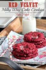 Red Velvet Milky Way Cake Cookies