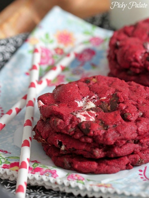 Red velvet milky way cookie recipe
