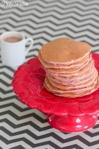Strawberry Buttermilk Pancakes with Nutella Syrup 1