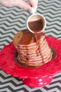 Strawberry Buttermilk Pancakes with Nutella Syrup 4