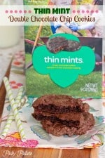 Thin Mint Double Chocolate Chip Cookies 2t
