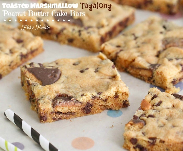 Toasted Marshmallow Tagalong Peanut Butter Cake Bars 3t