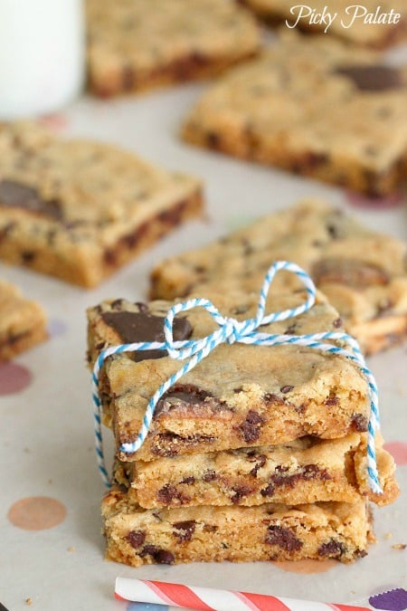 Toasted Marshmallow Tagalong Peanut Butter Cake Bars 4