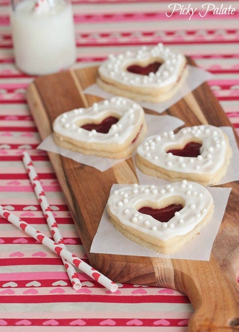 Valentine Shortbread Cookie Sandwiches - Picky Palate