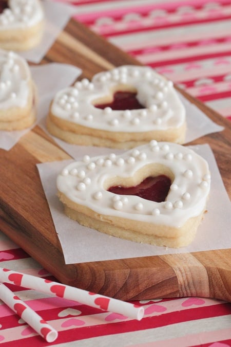 Valentine Shortbread Cookie Sandwiches 6 - Picky Palate