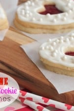 Valentine Shortbread Cookie Sandwiches