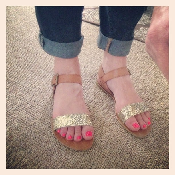 Gold Sparkle Sandals from Target