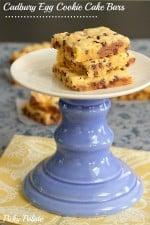 Cadbury Egg Cookie Cake Bars