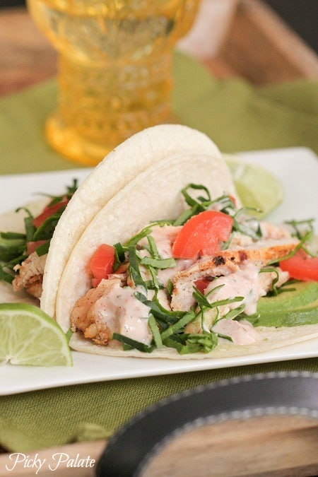 Grilled Taco and Lime Chicken for Tacos by Picky Palate www.picky-palate.com