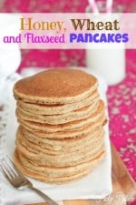 Honey Whole Wheat and Flaxseed Pancakes by Picky Palate www.picky-palate.com