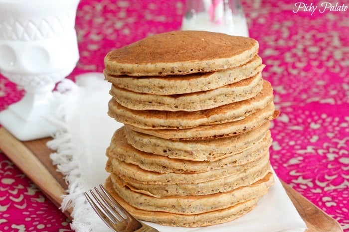 Honey Whole Wheat and Flaxseed Pancakes by Picky Palate