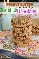 Do-si-do Peanut Butter Chocolate Chip Cookies