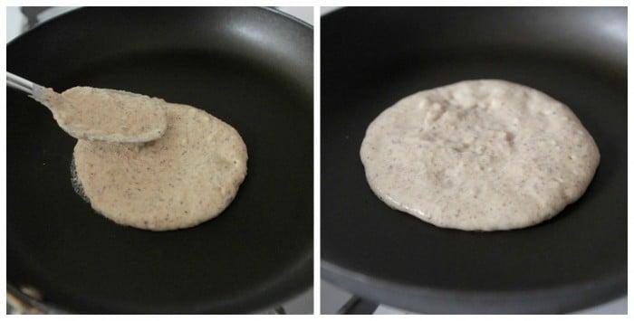 forming pancakes
