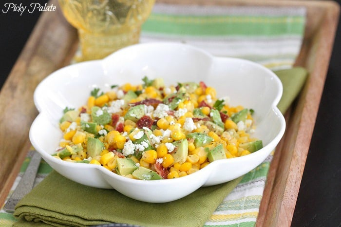 Bacon, Avocado and Corn Salad by Picky Palate