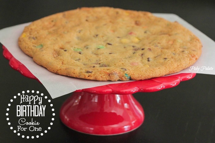 Giant Happy Birthday Cookie For One by Picky Palate