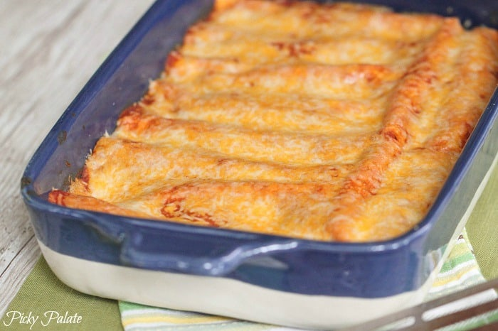 Skinny Chicken Vegetable Enchiladas 4t