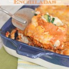 Skinny Chicken Vegetable Enchiladas
