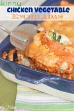 Skinny Chicken Vegetable Enchiladas by Picky Palate www.picky-palate.com