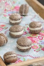 Homemade Cookies and Cream French Macarons