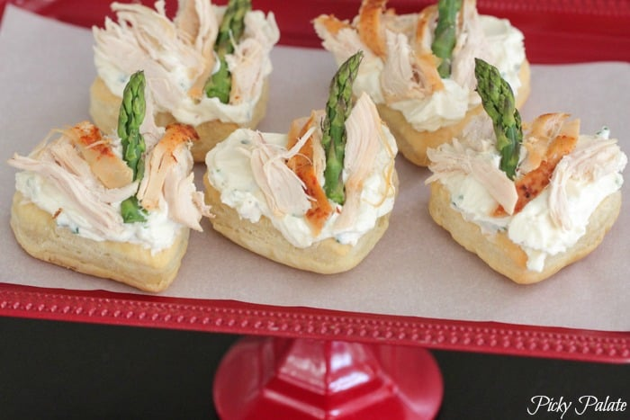 Feta and Chive Chicken Asparagus Puff Tart by Picky Palate