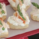 Feta and Chive Chicken Asparagus Puff Tarts