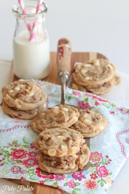 Snickerdoodle-Like Cinnamon and White Chip Cookies by Picky Palate