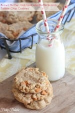 Brown Butter Oatmeal and Toffee Chip Cookies by Picky Palate