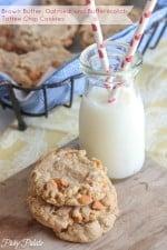 Brown Butter Oatmeal Butterscotch Cookies