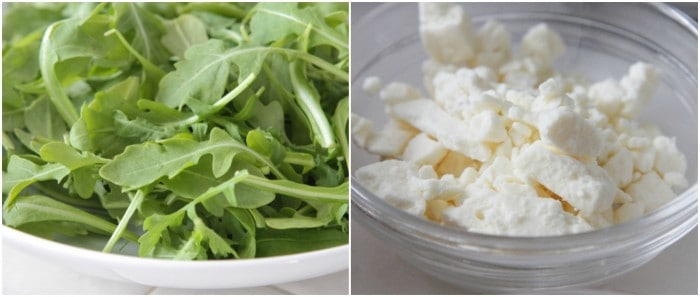 Arugula and feta