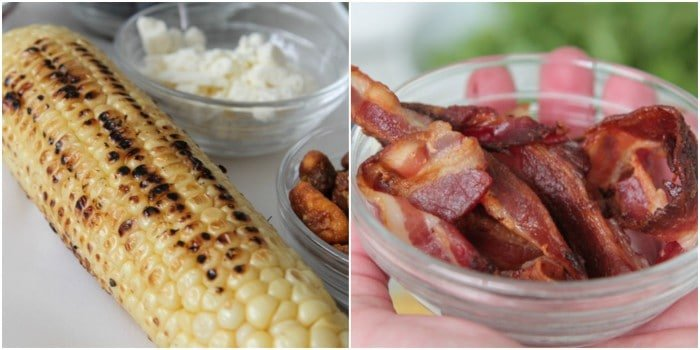 Charred corn and Bacon