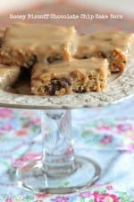 Gooey Biscoff Chocolate Chip Cake Bars