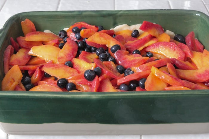 Homemade Peach Berry Cobler-31