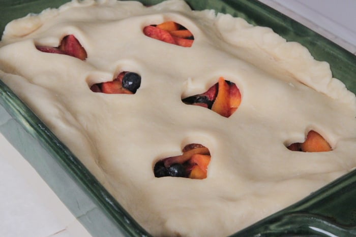 Homemade Peach Berry Cobler-32