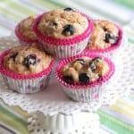Peanut Butter & Jelly Blueberry Banana Muffins