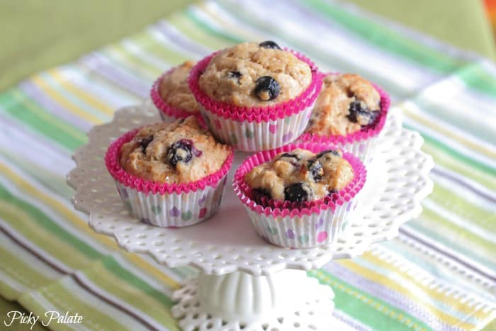 Peanut Butter and Jelly Blueberry Banana Muffins-12t