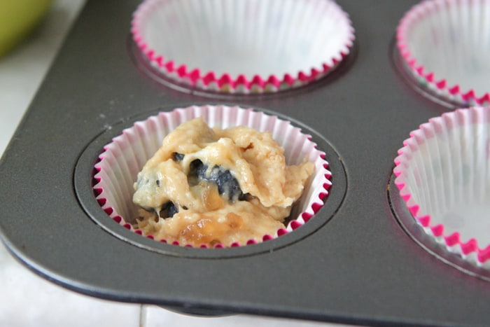 Peanut Butter and Jelly Blueberry Banana Muffins-9