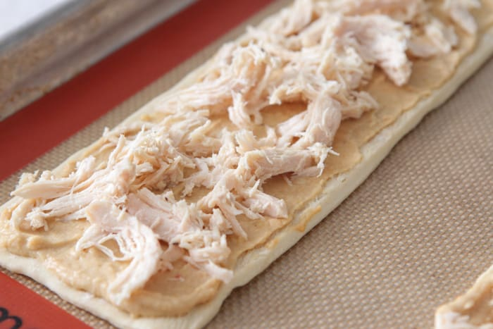 Cheesy Chicken Arugula Hummus Tarts-8
