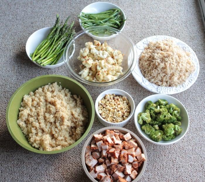 Grilled Chicken Veggie Bowls Meal Prep