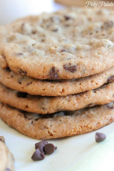 Peanut Butter and Honey Whole Wheat Chocolate Chip Cookies-18t