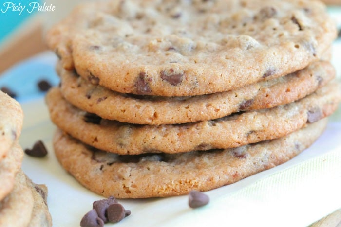 Peanut Butter and Honey Whole Wheat Chocolate Chip Cookies-19t