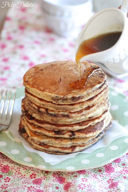 Banana Nutella and Oatmeal Pancakes-19t