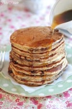 Picture of Banana Nutella and Oatmeal Pancakes