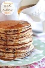 Nutella Banana Oatmeal Pancakes