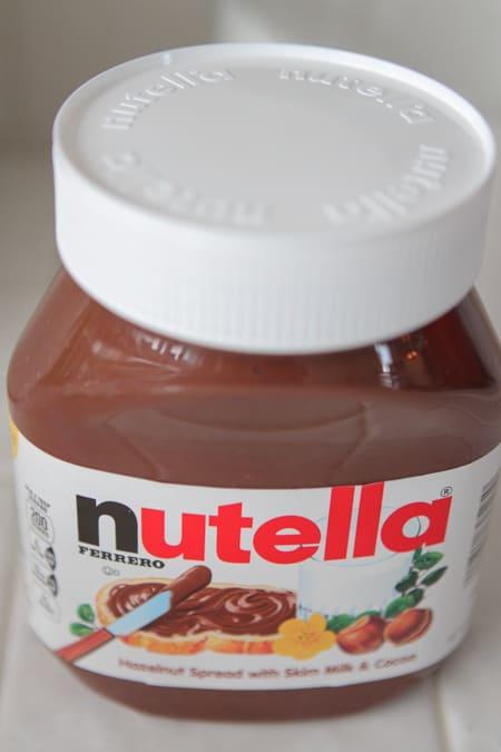 Banana Nutella and Oatmeal Pancakes-9