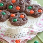 M and M Chocolate Pumpkin Spice Cookies