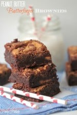 Peanut Butter Butterfinger Brownies by Picky Palate