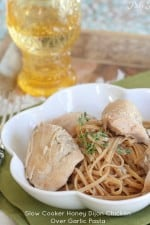 Slow Cooker Honey Dijon Chicken Over Garlic Pasta-21t