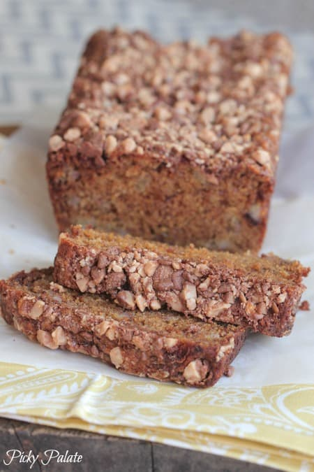 Banana and Molasses Toffee Chip Bread 8