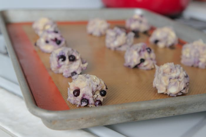 Maple and Blueberry Pancake White Chocolate Chip Cookies-11