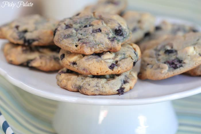 Maple and Blueberry Pancake White Chocolate Chip Cookies-12t